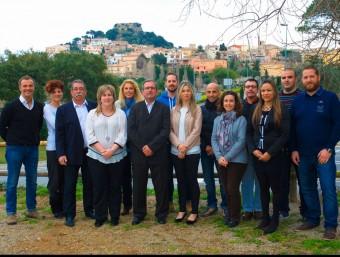 Marià Renart, amb els membres de la seva candidatura del Bloc Municipal a Begur EL PUNT AVUI