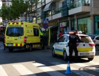 Els serveis d'emergència, en el lloc de l'accident Ò.P