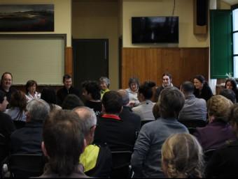 Un moment de la presentació de Vivim Mieres, celebrada el cap de setmana al centre cívic. EL PUNT AVUI