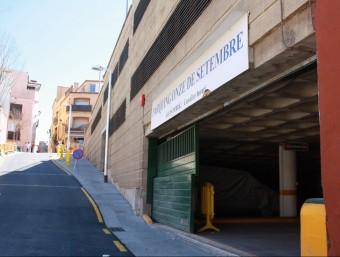 L'ajuntament de Begur gestionarà el pàrquing Onze de Setembre JOAN PUNTÍ