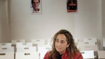 Carolina Punset en un moment de l'entrevista a la seu de C's. JOSÉ CUÉLLAR