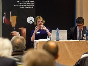 Sarah Jane Evans i el qui va ser sumiller de El Bulli, Ferran Centelles.  L'ECONÒMIC