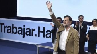 El president del govern espanyol, Mariano Rajoy, ahir, en un acte preelectoral a Toledo EFE