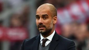 Guardiola, en el partit de dissabte. AFP