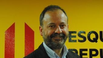 Carles Vega, cap de llista d'ERC-Avancem a la Paeria. J.Tort