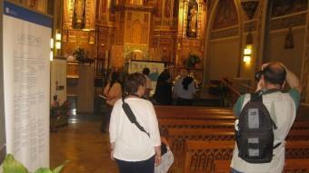La capella del Centre Maria Gay, que s'obrirà al public, en una imatge d'arxiu EL PUNT AVUI