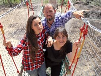 Naiara (esquerra), Juan Carlos i Maria José.  JUANMA RAMOS