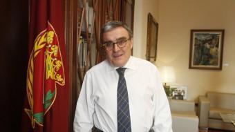 Àngel Ros, al seu despatx de la Paeria. Oriol Duran