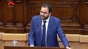 Fernando Sánchez Costa (PP) aquest dijous al Parlament Arxiu