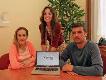 Silvia Magdaleno, Vanessa Junqué i Juanjo Cordero, de 4MilSumem.  JAUNMA RAMOS