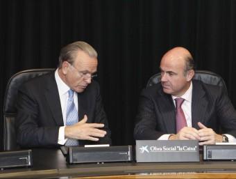 El president de CaixaBank, Isidre Fainé, i el ministre d'Economia, Isidre Fainé.  ARXIU