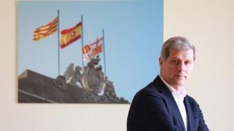 Alberto Fernández Díaz a l'oficina de campanya del PP. Andreu Puig