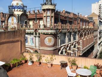 Una de les terrasses del catàleg d'Upstairs BCN.  ARXIU/UPSTAIRS BCN