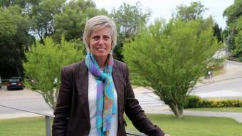 Consol Cantenys, alcaldessa de Vilafant i candidata a la reelecció pel PSC Manel Lladó