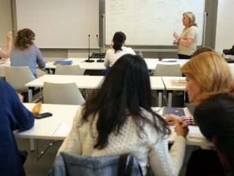 Alumnes participant en cursos organitzats per Foment Formació.