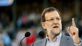 El líder del PP, Mariano Rajoy, ahir a València EFE