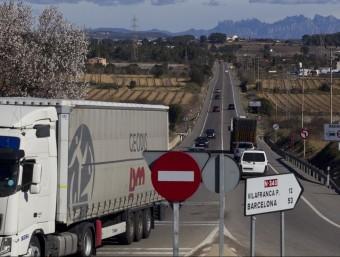 L'N-340 des d'Altafulla fins a Vilafranca només té un sentit per banda. J.C.LÉON