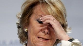 L'alcaldable del PP per Madrid, Esperanza Aguirre, valora els resultats dels comicis REUTERS