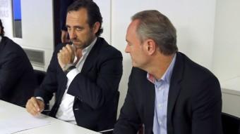 Bauzá amb Fabra durant la reunió del comitè executiu del PP ahir a la tarda EFE