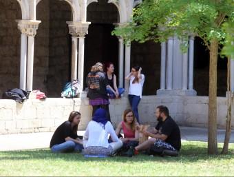 Un grup d'estudiants a la Universitat de Girona.  ARXIU /QUIM PUIG