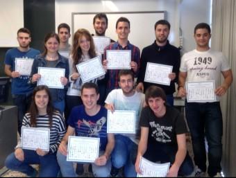 Alguns dels alumnes de l'Etseq que han participat enguany en el projecte.