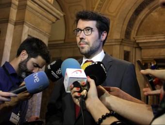 L'alcalde de la Seu, Albert Batalla, en unes declaracions als mitjans de comunicació aquest dimecres ACN