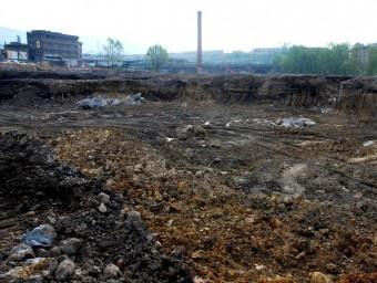 Imatge d'un sòl contaminat que ha de ser restaurat.  ARXIU
