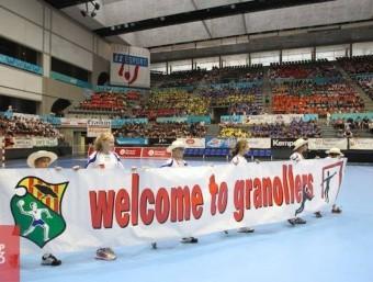 El Palau d'Esports de Granollers , en l'edició del 2014 BMG