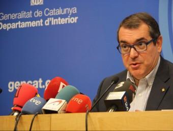 El conseller d'Interior, Jordi Jané, s'ha estrenat en roda de premsa per fer balanç de la nit de Sant Joan ACN