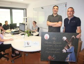 Juan carlos Ramos (esquerra)i Ignasi Esteban són els fundadors de Forever Us.  JUDIT FERNÁNDEZ