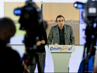 Joseo Rull en una roda de premsa a la seu de CDC ALBERT SALAMÉ