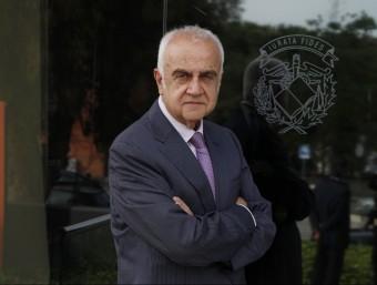 Daniel Faura, a la seu del col·legi  L'ECONÒMIC