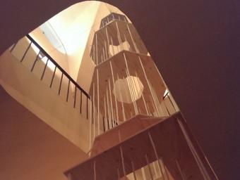 Maqueta del campanar de Vilanova, unapeça de l'exposició APARADOR D'ARQUITECTES