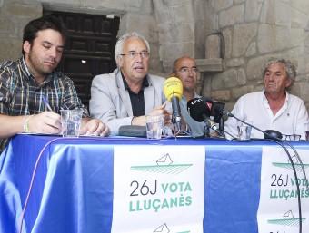 Peraire i Freixanet durant la presentació de la campanya aquest dijous a Lluçà JORDI PUIG / EL 9 NOU