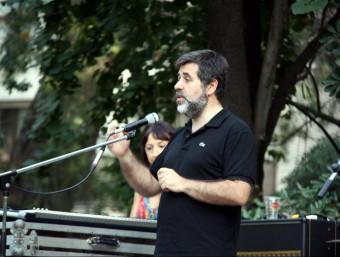 Jordi Sànchez, ahir a Tortosa en l'inici de la campanya 'On tot comença' ACN
