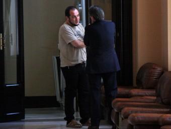 David Fernàndez i Artur Mas parlant ahir al Parlament acn