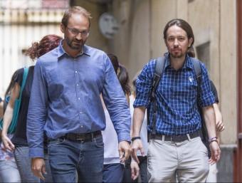 Herrera acompanyat d'Iglesias en la primera imatge de la coalició A.S