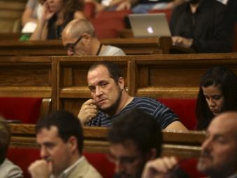 El diputat de la CUP David Fernàndez aquesta setmana al Parlament QUIM PUIG