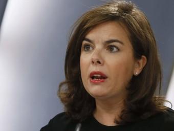 Soraya Sáenz de Santamaría, portaveu del govern espanyol, aquest divendres a La Moncloa EFE