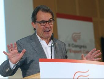 El president de la Generalitat, Artur Mas, aquest dissabte a la cloenda del II Congrés de l'Esport Català EFE