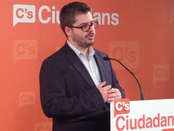 Fran Hervias, secretari d'Organització de Cs, anuncia el resultat de les primàries per al 27-S CIUTADANS