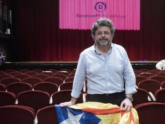 Antoni Castellà, ahir just desprésde la presentacióal teatre Bartsde Barcelonadel nou partit Demòcrates de Catalunyajosep losada