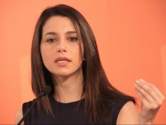 La candidata de C's a les catalanes i portaveu al Parlament, Inés Arrimadas, en roda de premsa ACN