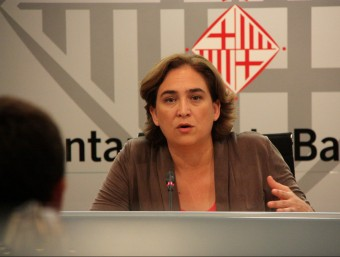 L'alcaldessa Ada Colau en una roda de premsa a l'Ajuntament ACN