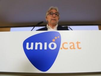 Sánchez Llibre presentava ahir el logotip electoral d'Unió per al 27-S ANDREU PUIG