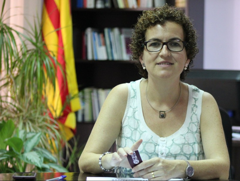 Agnès Ferrer és l'alcaldessa de la Bisbal per CDC. C.M