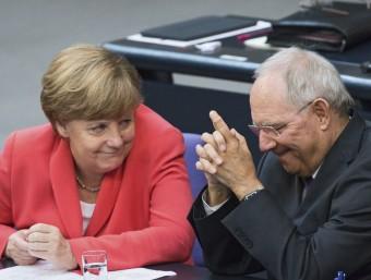 La cancellera alemanya, Angela Merkel, i el ministre de Finances alemany, Wolfgang Schäuble EFE