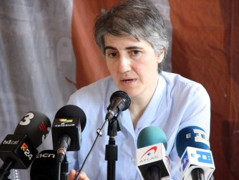 Teresa Forcades atén els mitjans de comunicació ACN