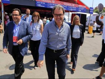 El president de la Generalitat, Artur Mas, aquest dissabte al Camp Nou JUANMA RAMOS
