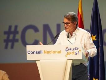 Artur Mas durant la seva intervenció al consell nacional @CONVERGENCIACAT